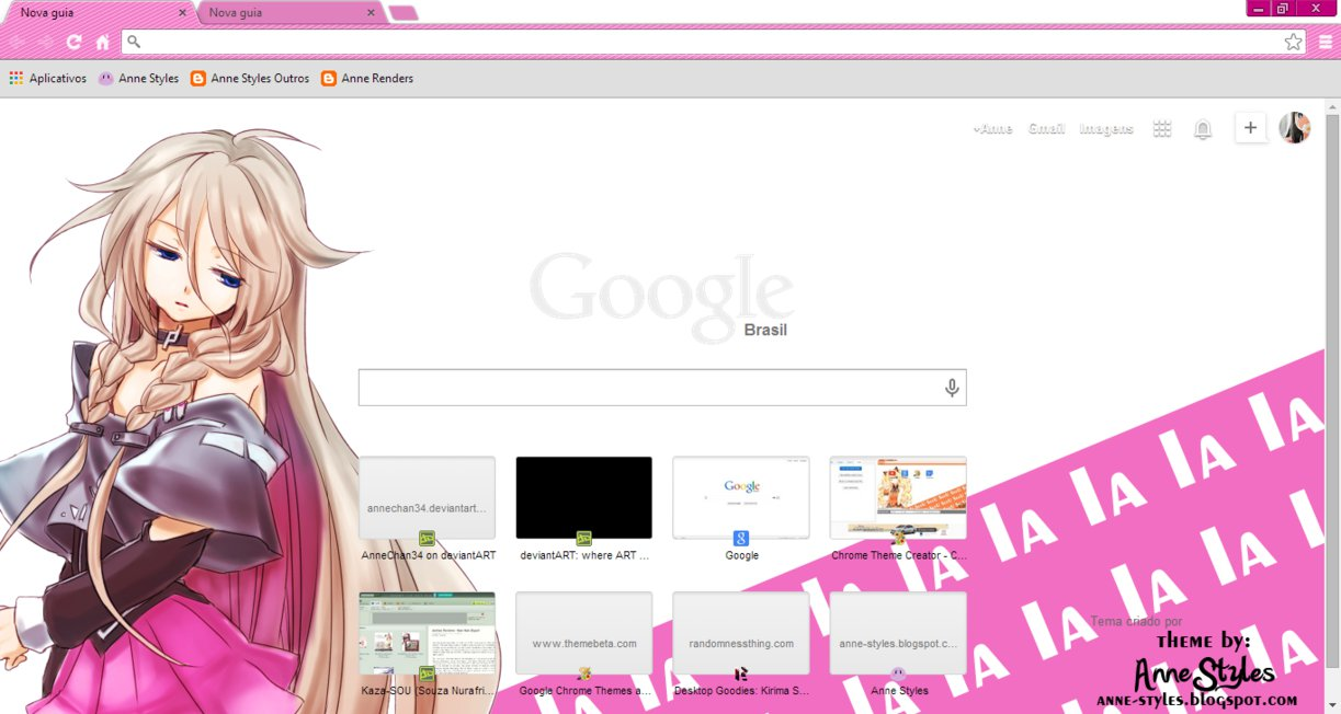 Vocalova - IA Google Chrome Theme