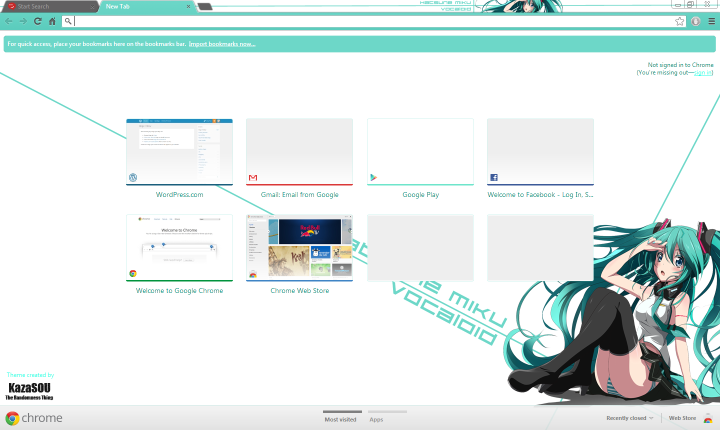 Vocalova - Hatsune Miku Google Chrome Theme 10