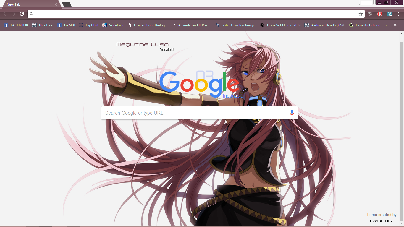 vocaloid megurine luka chrome theme