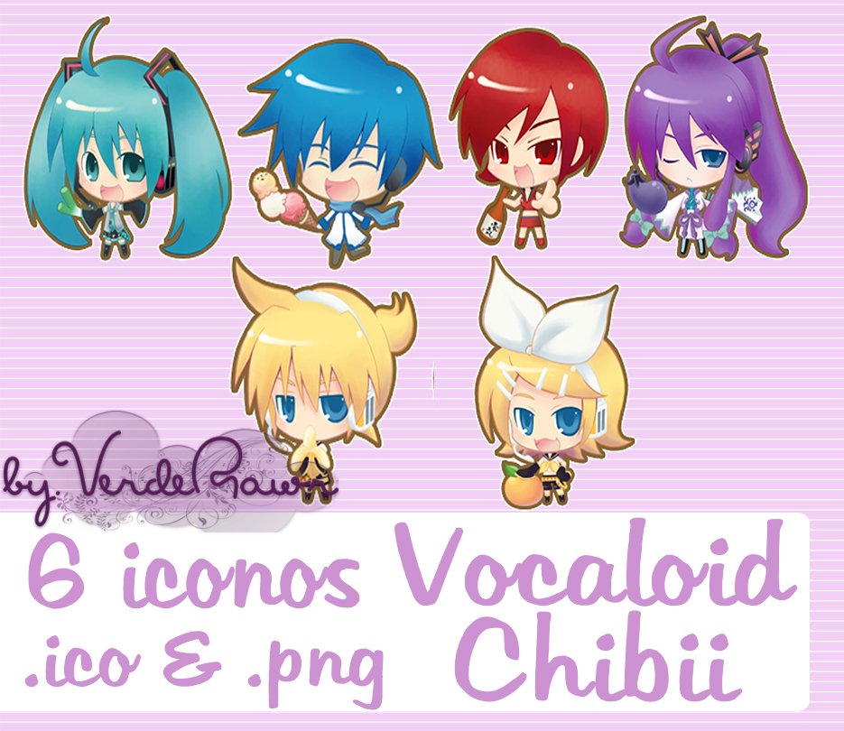 vocaloid chibi icon pack