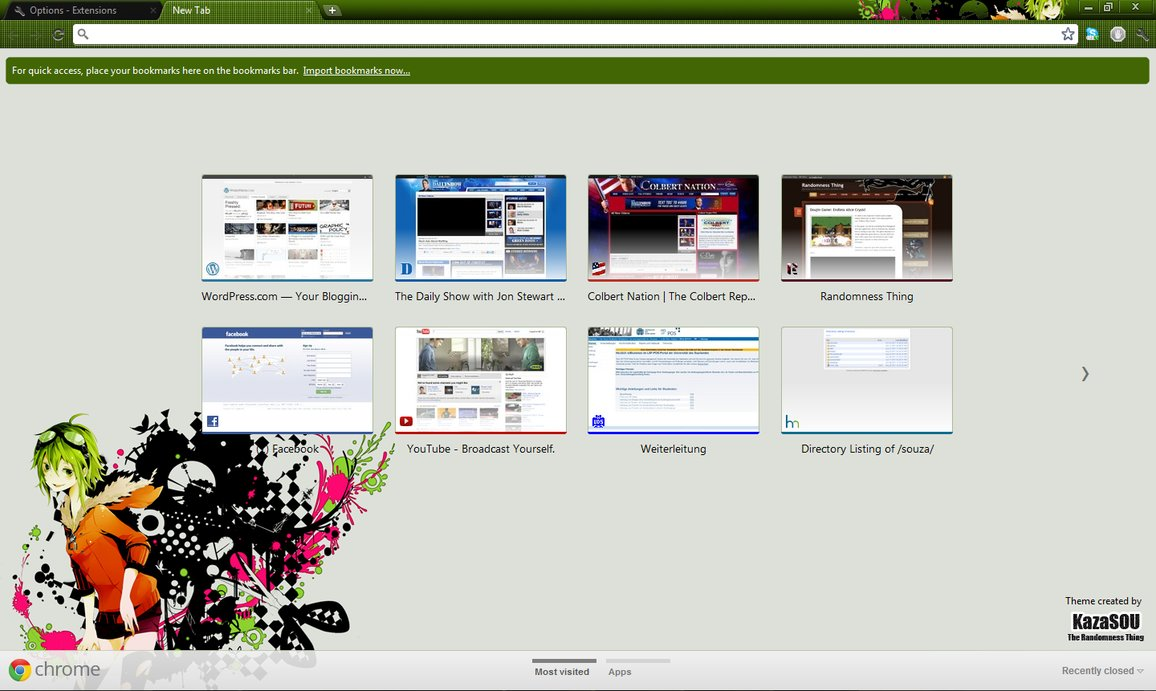 gumi megpoid chrome theme