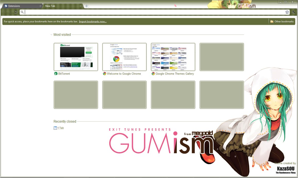 gumi chrome theme