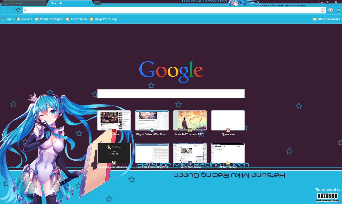 miku chrome theme
