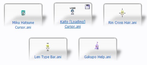 vocaloid animated cursors
