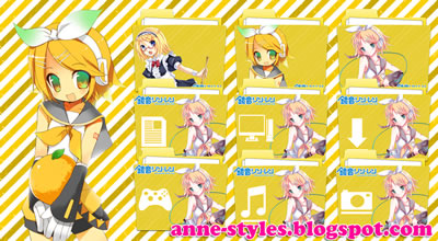 kagamine rin icon pack