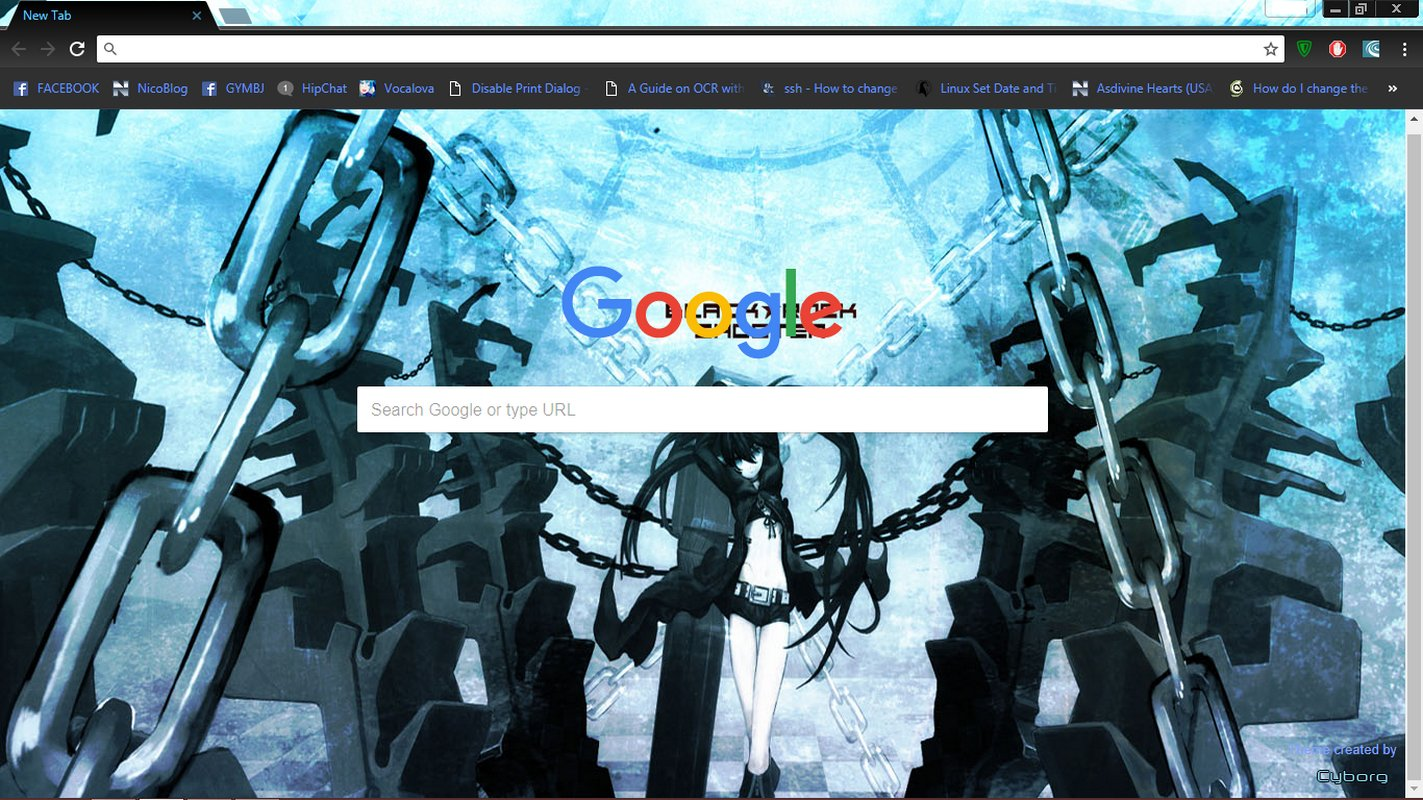 black rock shooter chrome theme