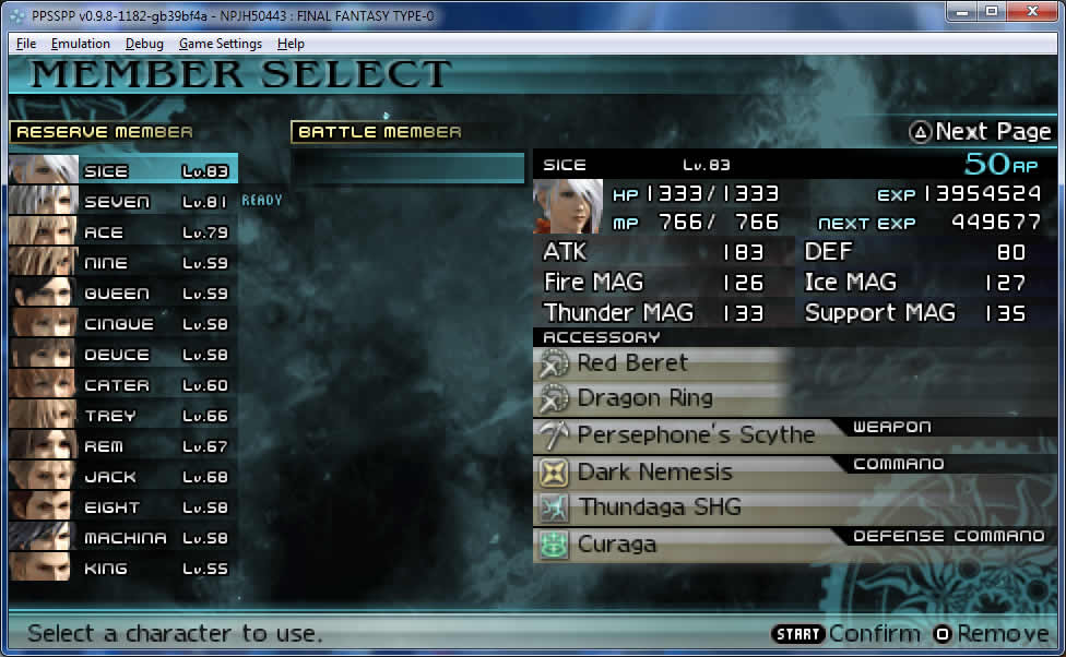 ff type-0 final fantasy secret training sleep mode ppsspp trick